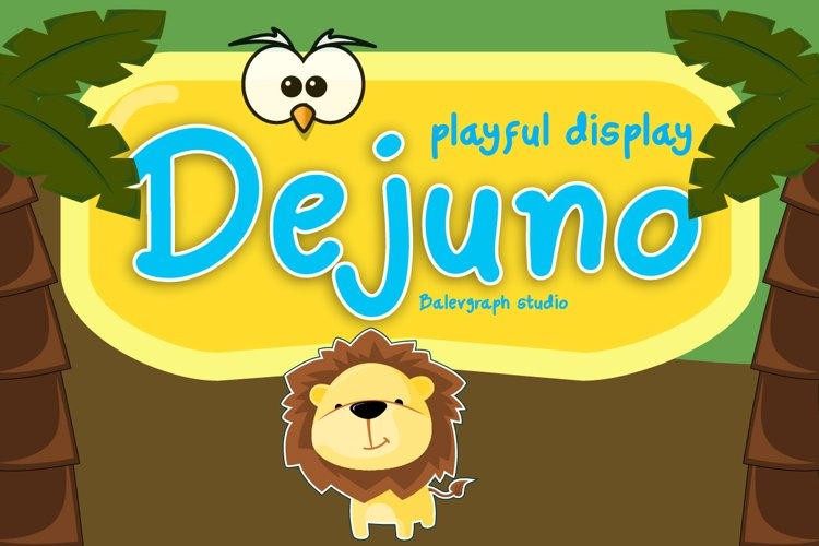 Dejuno Playful Display Typeface example image 1