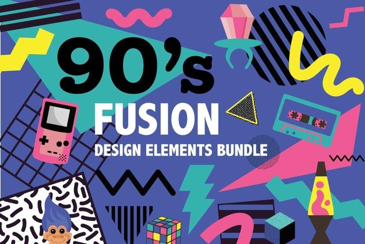 90s Fusion Design Elements