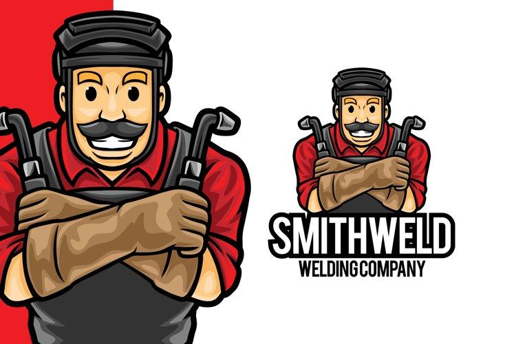 Welder Service Mascot Logo Template