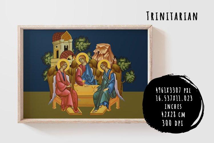 Trinitarian. Trinity. Illustration in Byzantine style example image 1