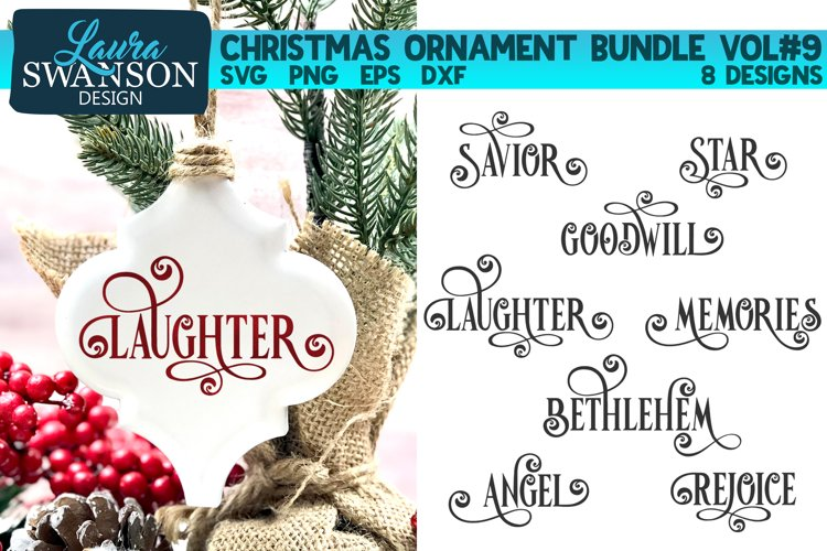 Christmas Ornament Bundle Vol#9 | Christmas SVG Bundle example image 1