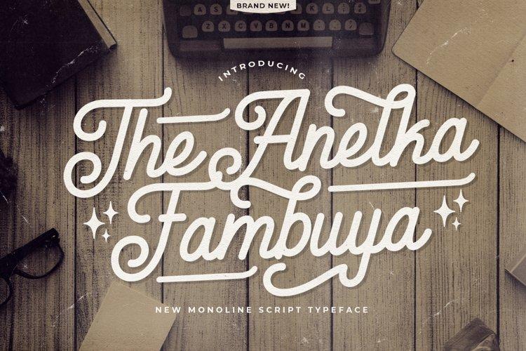 Anelka Fambuya - Monoline Retro Script Font example image 1