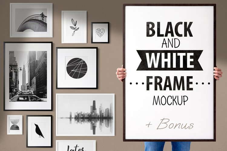 BLACK AND WHITE FRAME MOCKUP example image 1
