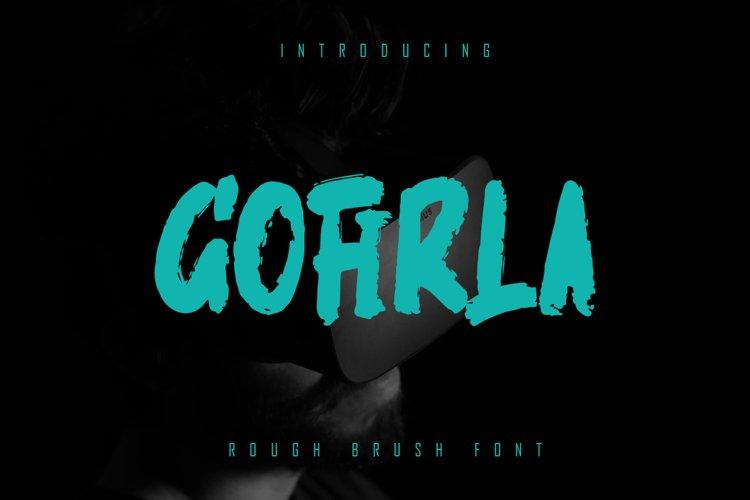 GOFIRLA - Rough Brush Font example image 1