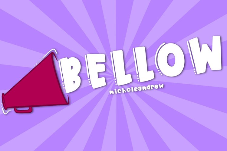 Bellow - A Loud Font example image 1