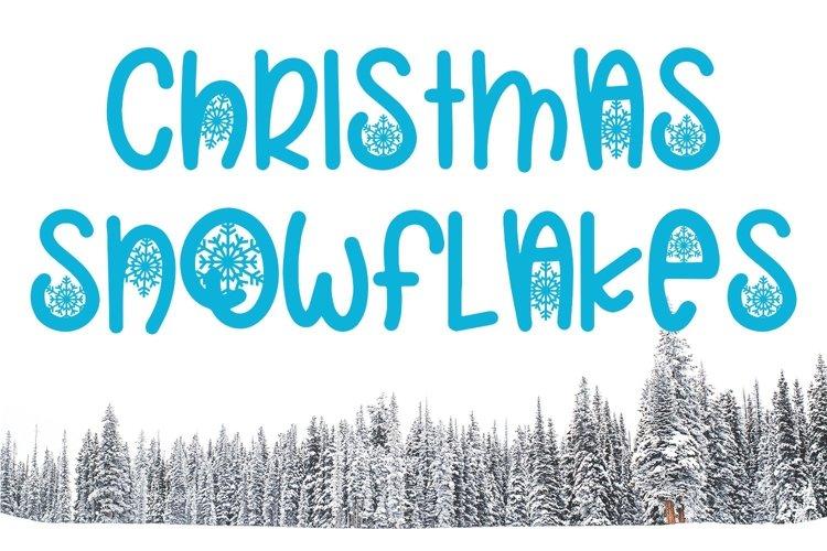 Web Font Christmas Snowflakes Font example image 1