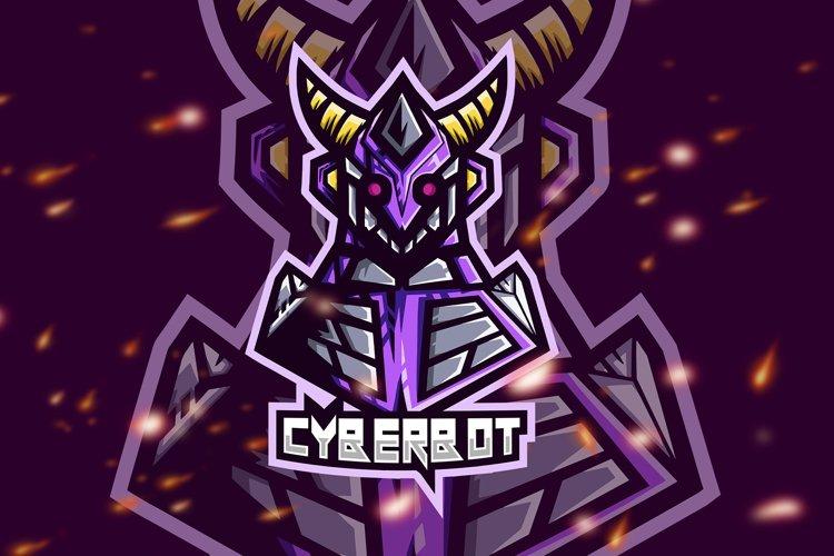 Cyberbot Robot Esport Gaming Logo example image 1