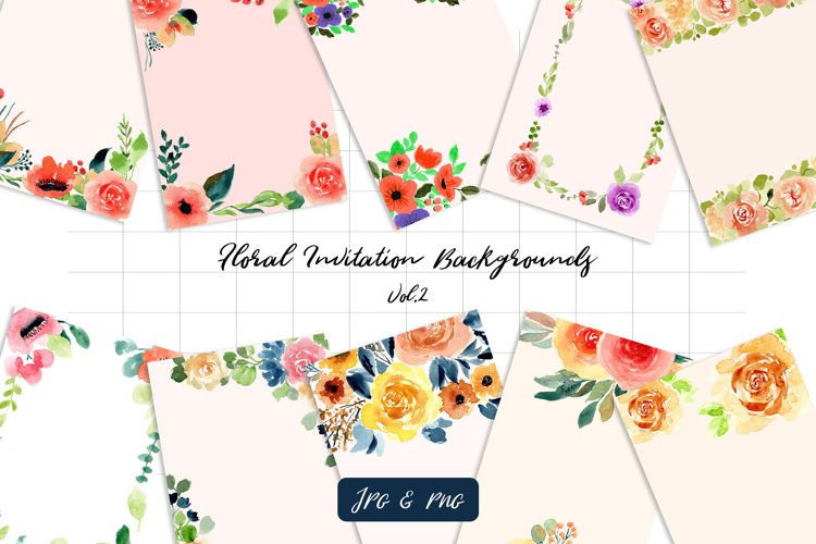 Floral Invitation Backgrounds Vol.2 example image 1