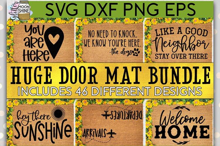 Huge Welcome Mat Bundle of 46 SVG DXF PNG EPS