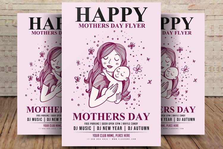 Mothers Day Flyer Template example image 1