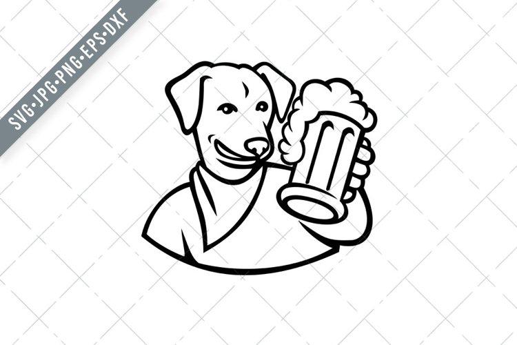 English Lab Dog Beer Mug SVG Cut File