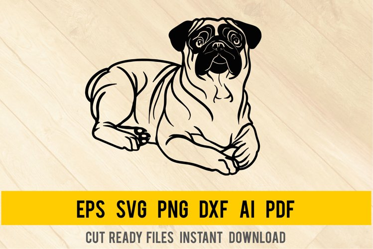 Pug Dog svg, Breed Dogs SVG, Pet Pup example image 1