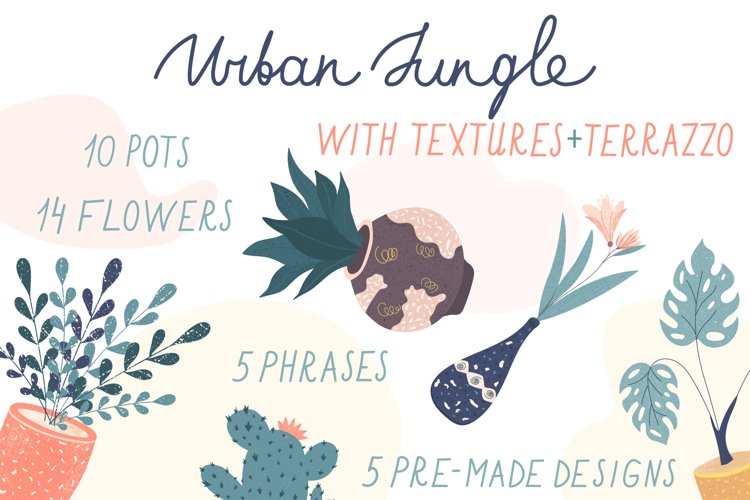 Urban Jungle elements with terrazzo and textures example image 1