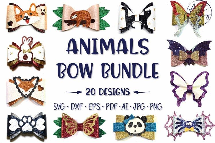 20 Animal Hair Bow Template SVG bundle