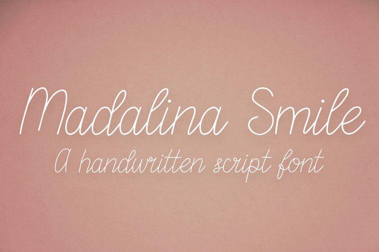 Madalina Smile - a monoline handwritten script font example image 1