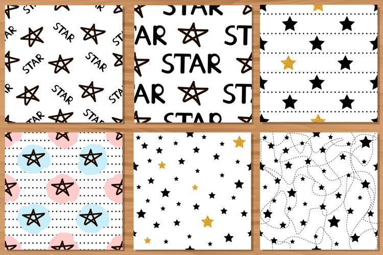 Stars. 6 Seamless patterns. Digital paper. example image 1