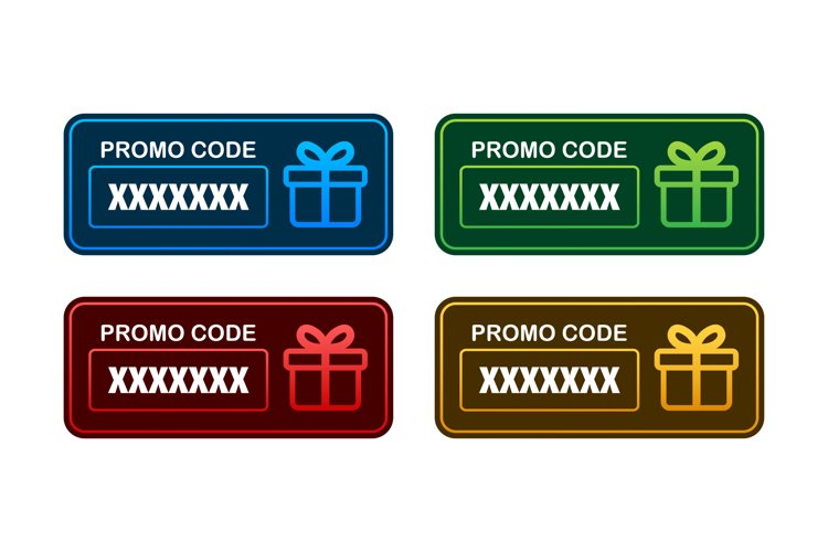 Promo code. Vector Gift Voucher with Coupon Code. Premium eG example image 1