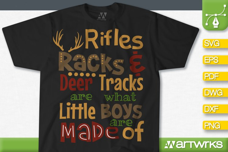 Deer hunting SVG files for Cricut | Little boys are made of