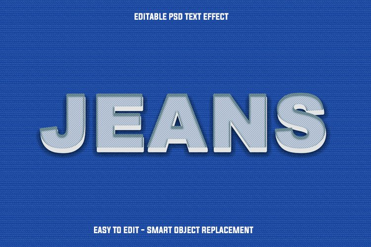blue jeans text effect