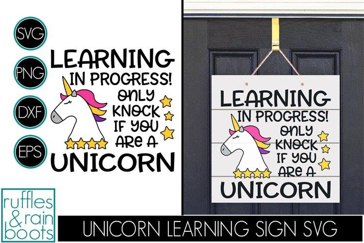 Unicorn Online Learning Door Sign - E-Learning Unicorn Sign example image 1