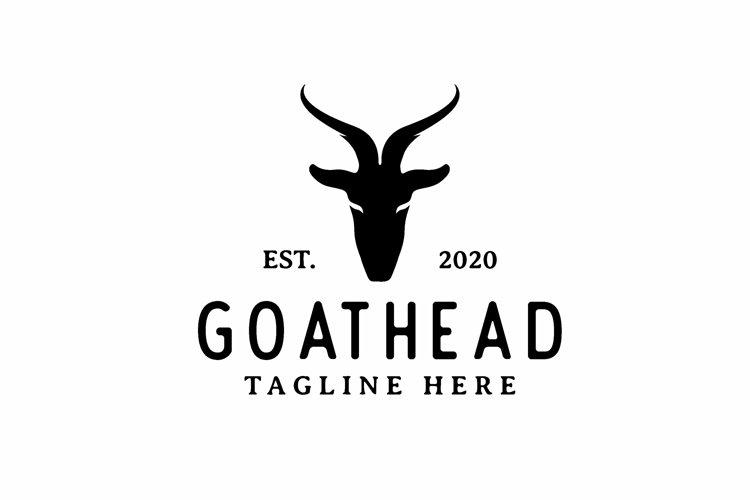 Goat Head Silhouette Logo Design example image 1
