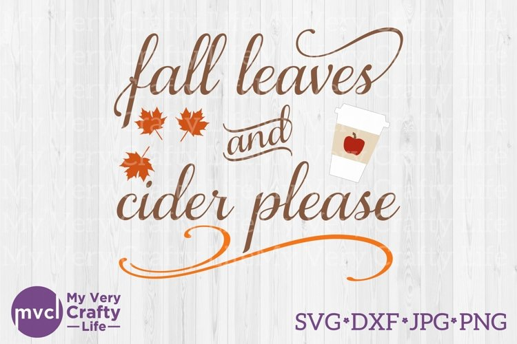 Fall Leaves and Cider Please example image 1