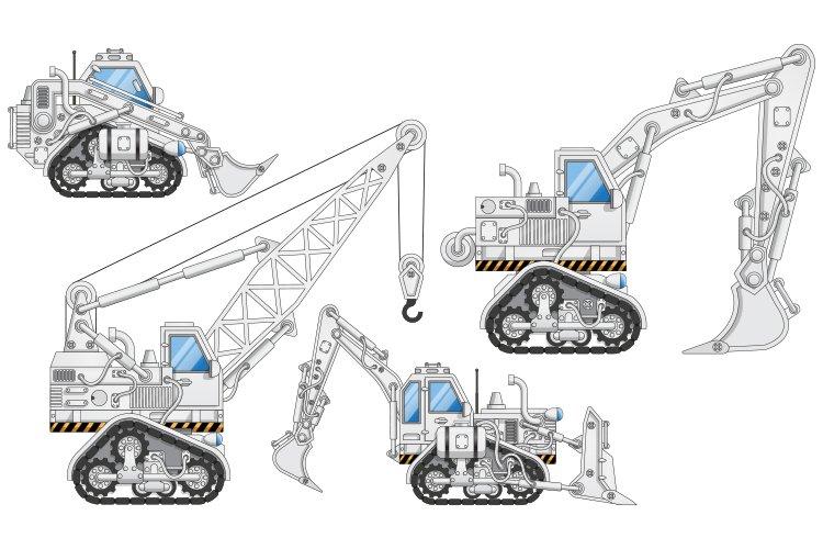 A Set of Construction Equipment.