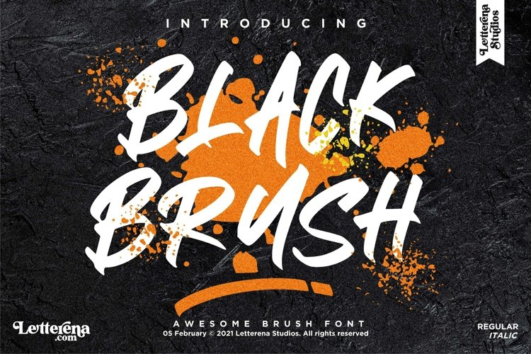 BLACK BRUSH - Awesome Brush Font example image 1