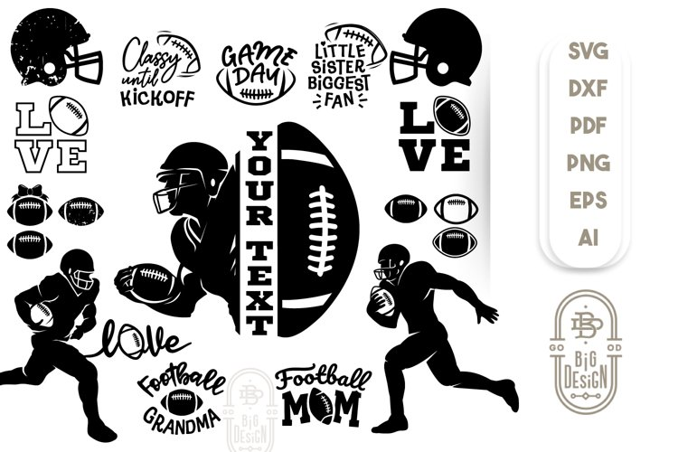 Football Bundle SVG - 22 American Football SVGs example image 1