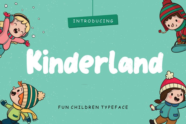 Kinderland Fun Children Typeface example image 1