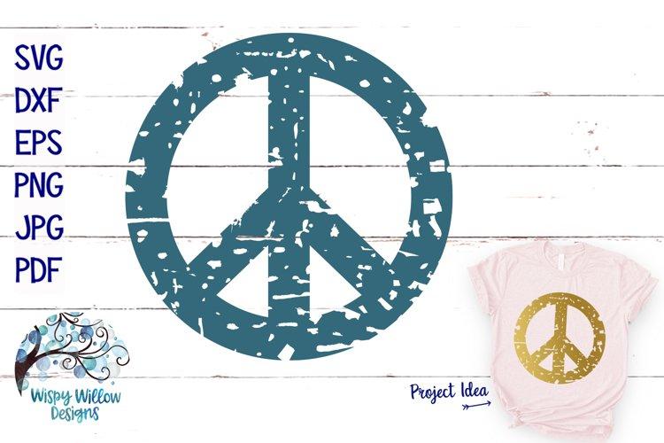 Distressed Peace Sign | Grunge SVG Cut File