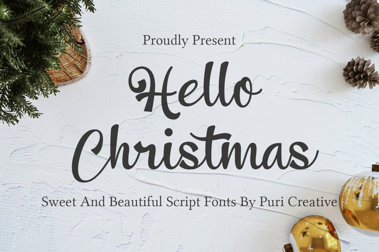 Hello Christmas - Sweet & Beautiful Script Font example image 1