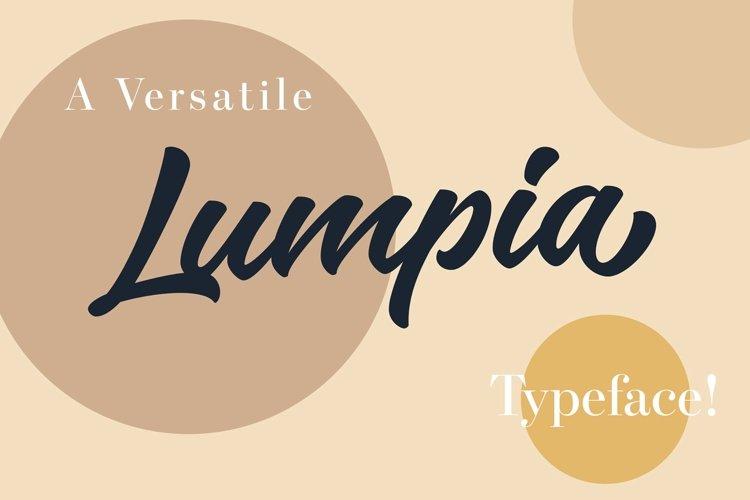 Lumpia - Bold Script Logotype example image 1