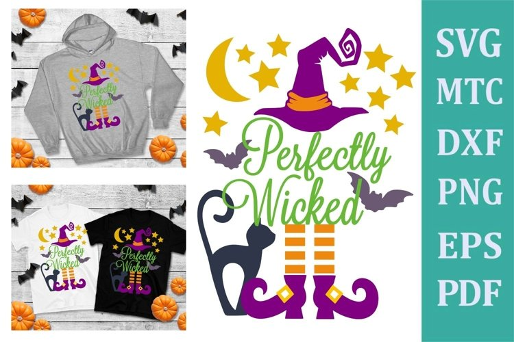 Perfectly Wicked Halloween Design #01 SVG Cut File example image 1