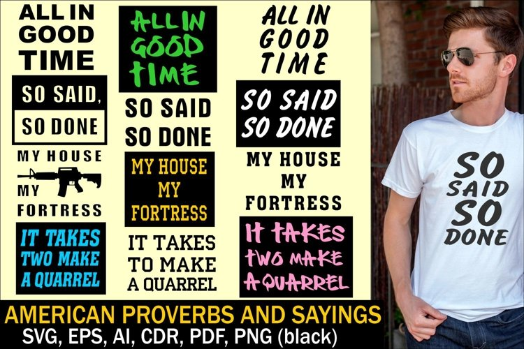 American prowerbs and sayings example image 1