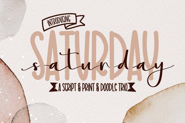 Saturday Font - A Script Print & Doodle Type example image 1