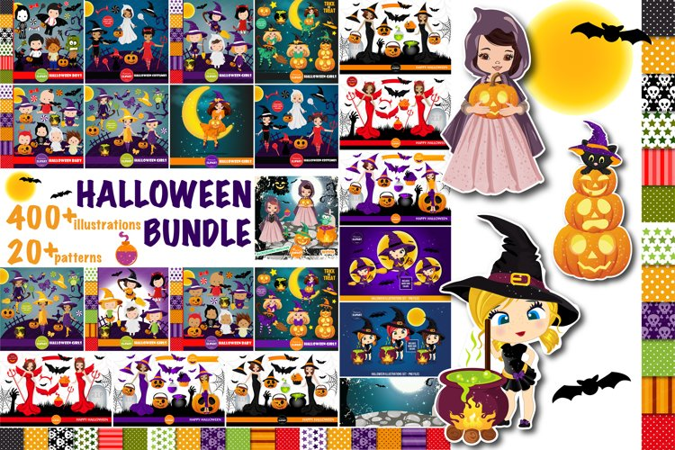 Halloween bundle, Halloween illustrations example image 1