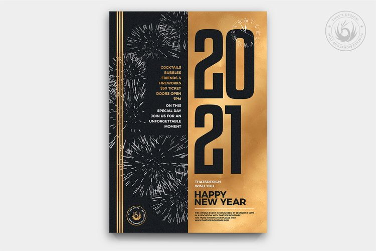 New Year Flyer Template V9