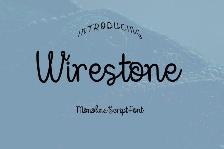 Wirestone Font example image 1
