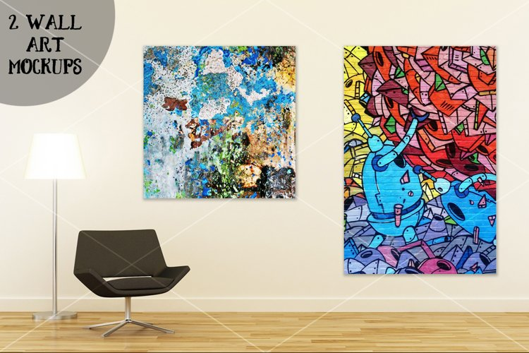 Wall art mockup V4 example image 1