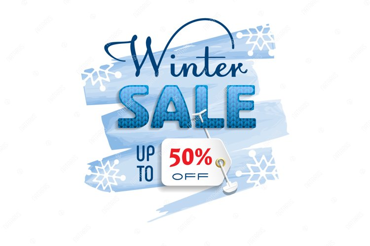 Winter Sale. Colorful banner. example image 1