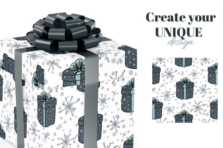 Christmas digital paper. Christmas cute scandi patterns. example 1