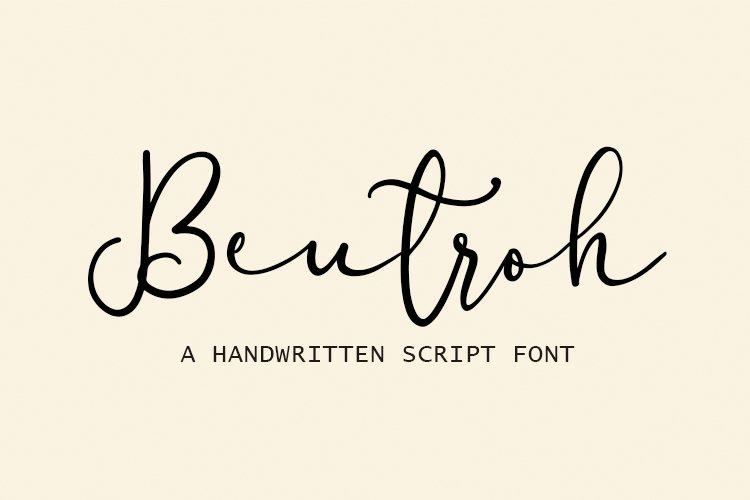 Beutroh | Handwritten