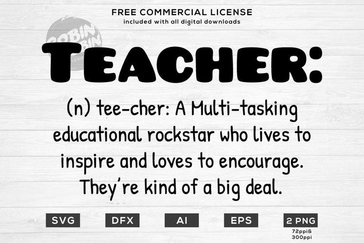 Teacher Definition Design for T-Shirt, Hoodies, Mugs