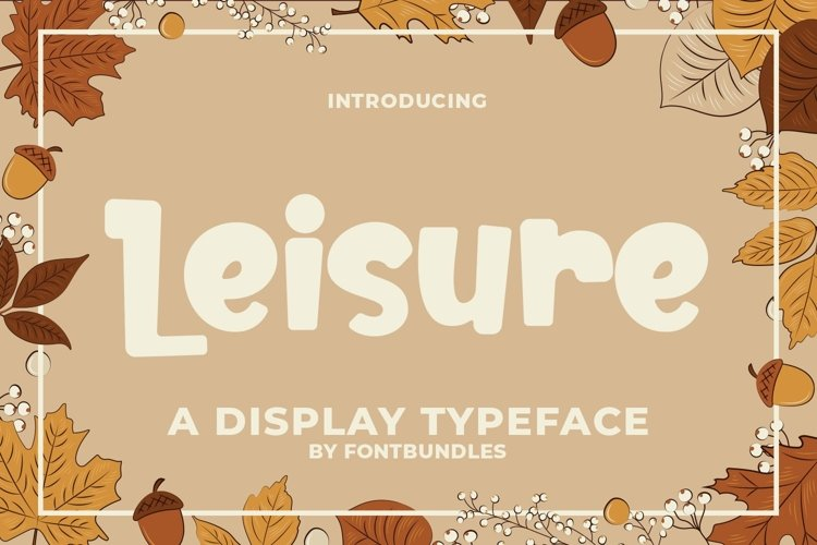 Web Font Leisure example image 1