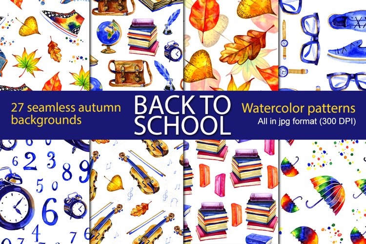 27 school autumn seamless patterns example image 1