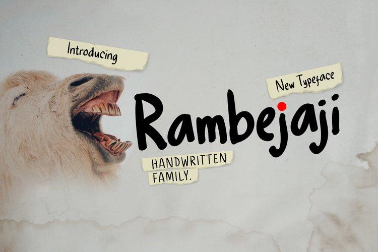Rambejaji Handwritten example image 1