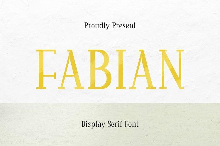 Web Font Fabian Font example image 1