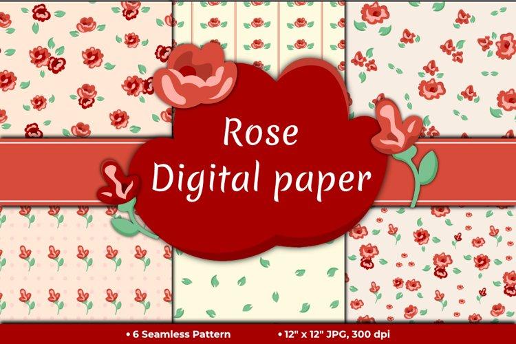 Red Rose Digital Paper