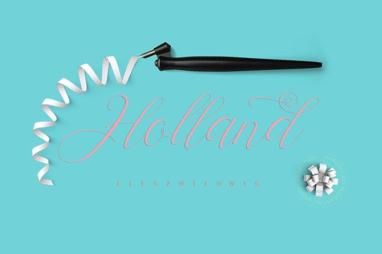 Holland Script example image 1